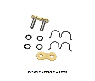 ATTACHE A RIVER POUR CHAINE DID 530 ZVM-X X-RING
