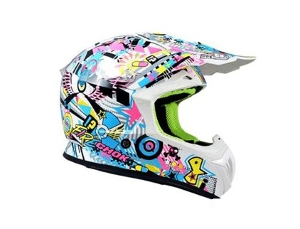 CASQUE CROSS CHOK FIRE 2016 MULTICOLORE VERNI